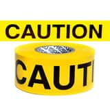 Presco Barricade Tape Yellow 3 in. x 1000 ft. - CAUTION PB3104Y16