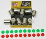 C&D Valve 1/4 in. Threaded Brass Locking Cap Kit 10 Pack CCD229010