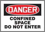 7X10 MAG VINYL SIGN CONFINED SPACE DO NOT ENTER ACSM003 at Pollardwater