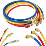 Imperial Hose with Ball Valve in Blue, Red and Yellow I955MRS