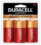 Duracell Quantum Alkaline-Manganese Dioxide Battery 3 Pack DQU1B3Z