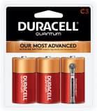 Duracell Quantum Alkaline C Battery 3-Pack DQU1400B3Z
