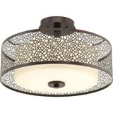 Progress Lighting Mingle 100W 2-Light Medium E-26 Base Incandescent Semi-Flushmount Ceiling Fixture PP3565