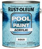Rust-oleum 1-Gang Acrylic Pool Paint in Aqua R269359