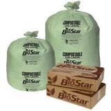 Pitt Plastics BioStar 45 gal Compostable Liner (Case of 100) PBS45G