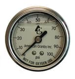 American Granby 2 in. Stainless Steel Liquid Filled Gauge AEILPG10024BSSNL