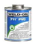 Weld-On® 711™ 1 qt Regular Set Plastic Grey Pipe Cement I10119