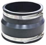 Fernco 4 in. Clay x Asbestos Cement Fiber and Ductile Iron Flexible Coupling F100344