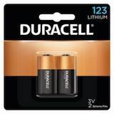Duracell 3V 123 Lithium Battery 2-Pack DDL123AB2PK