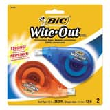 BIC Pen 397 x 1/6 in. Correction Tape (2 Pack) BWOTAPP21