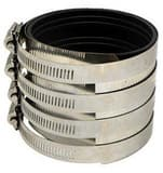 2000 Series 3 in. No-Hub Heavy Duty Stainless Steel Coupling DNHWBCM