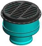 Nyloplast America 10 in. Inline Drain with Grate N2710AG