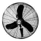 Air-King 30 in. 3-Blade Oscillating Wall Mount Portable Fan A9075