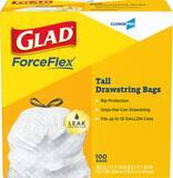 GLAD 13 gal Tall Drawstring Trash Bag (Box of 100) CLO78526BX