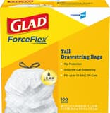 GLAD 13 gal Tall Drawstring Trash Bag (Box of 100) CLO78526BX