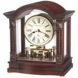 Bulova Corporation Norbourne 9-1/4 x 10-3/4 in. Mantel Clock in Walnut BB1650