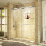 DreamLine Charisma 60 in. Frameless Sliding Shower Door with Clear Glass in Polished Chrome DSHDR136076001
