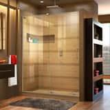 DreamLine Mirage-X 48 in. Frameless Sliding Shower Door with Left Wall Bracket DSHDR1948723L