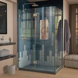 DreamLine Quatra Lux 46-5/16 in. Frameless Hinged Shower Enclosure with Tempered Glass DSHEN1332460