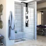 DreamLine Linea 30 in. Frameless Shower Door with Clear Tempered Glass DSHDR3230721