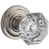Baldwin Hardware Crystal Privacy Door Knob in Satin Nickel B9BR3532131