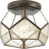 Progress Lighting Cinq 1-Light 100W Medium E-26 Flush Mount Ceiling Fixture in Antique Bronze PP386820