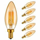 Fine Art Lamps 60W 6-Light Candelabra E-12 Base Incandescent Chandelier in Walnut F242040