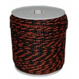 Supply Source 600 ft. Polypropylene Truck Rope in Black and Orange S305005