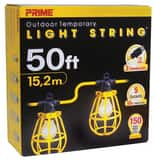 Prime Wire and Cable 50 ft. 5-Light U-Ground Light String in Yellow PLSUG2830
