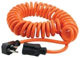 Prime Wire and Cable 10 ft. Coiled Power Tool Cord in Orange PAD010610
