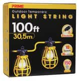 Prime Wire and Cable 100 ft. 10-Light U-Ground Light String in Yellow PLSUG2835