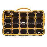 DEWALT 17-71/100 x 1-1/10 x 2-7/8 in. 20-Compartment Pro Organizer in Yellow and Black DDWST14830