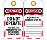 National Marker Company Heavy Duty Polyester Lockout Tag in Red and White (25 Pack) NCU281674
