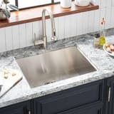 Mirabelle® Sitka 1-Hole 1-Bowl Dual Mount Kitchen Sink in Stainless Steel MIRDM2522Z1