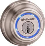 Kwikset Single Cylinder Bluetooth Deadbolt in Satin Nickel K925KEVO2DB15
