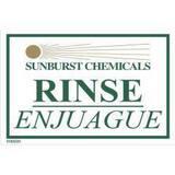Sunburst Chemicals 4-1/2 in. Rinse Sink Sticker S9180225