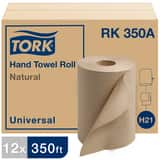 Tork Universal Hardwound Paper Roll Towel, 1-Ply, Natural TRK350A