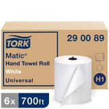 Tork Matic® Advanced Paper Towel Roll, 1-Ply 700 ft, White, H1 System T290089