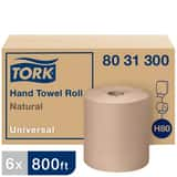 Essity Professional Hygiene Na LLC Tork® 8 in. x 800 ft. Universal Hand Towel Roll in Natural T8031300
