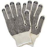 Safety Zone M Size Polyester, PVC and Cotton Double Dot Gloves in Black and Natural (Case of 20 Dozen) SGSBDWN2C20