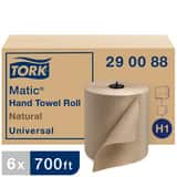 Tork Universal Matic® 7-7/10 in. Fiber Hand Towel Roll in Natural (Case of 6) TOR290088