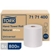Tork Universal Paper Hand Towel Roll, 1-Ply, Natural White, H71 System T7171400