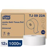 Tork 1000 ft. x 3-3/5 in. 2-ply Bath Tissue in White (Case of 12) TORTJ0922A