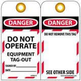 National Marker Company 6 x 3 in. Lockout Tag Danger - Do Not Operate - Equipment Tag-Out (Pack of 10) NLOTAG13