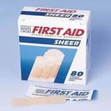 Mckesson Medical Surgical Assorted Band-Aid Strip in Sheer (Box of 80) M53371