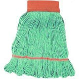 Golden Star Mops Starline™ 1-1/4 in. Cotton and Rayon Blend Looped End Wet Mop in Green (Case of 12) GASB1SG