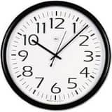 Essendant / Ussco ( National Paper & Plastics) 13-1/2 in. Classic Round Wall Clock in Black with White STAUNV11641