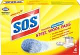 Clorox Steel Wool Household Pad (Box of 4 Pad, 24 Boxes per Case) C98041