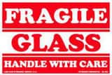 Box Packaging 3 x 5 in. Red on White Label Fragile Glass Handle with Care BSCL547