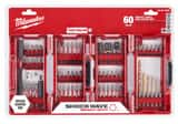 Milwaukee Shockwave™ 1/4 in. Alloy Steel Impact Drill and Drive Set 60-Piece M48324029